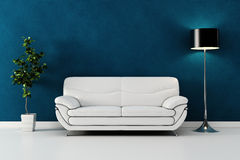 3d rinden de un diseño interior moderno. Imagen de archivo libre de regalías