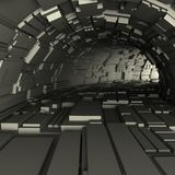 3d rinden de un túnel fotos de archivo
