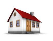 3D rinden de una casa ilustración del vector