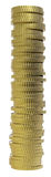 3d rinden del dinero en circulación de la moneda de oro. Imágenes de archivo libres de regalías