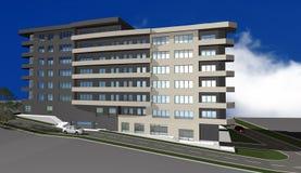 3D rinden del edificio residencial moderno stock de ilustración