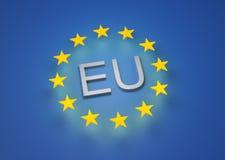 3D rinden del indicador de la UE Fotografía de archivo libre de regalías