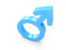 3d rinden del símbolo masculino Fotos de archivo libres de regalías