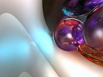 3d rinden el fondo del blanco de las esferas Foto de archivo