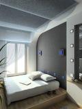 3D rinden el interior moderno del dormitorio Imagen de archivo libre de regalías