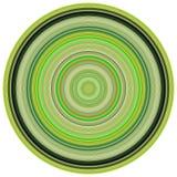 3d rinden los tubos concéntricos en colores verdes Imagen de archivo