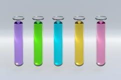 3D rinden los tubos de prueba Imágenes de archivo libres de regalías