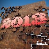 3D rinden rompecabezas de 2013 años con el fondo del cielo Foto de archivo libre de regalías