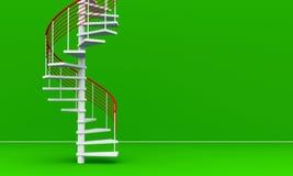 3D rindió las escaleras Imágenes de archivo libres de regalías