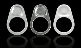 3D Ring Pull Of Cans Stock Image