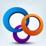 3d rings vector illustration