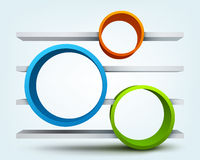 3d rings with shelves Royalty Free Stock Photos