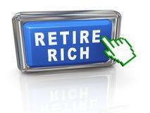 3d ręki kursor przechodzić na emeryturę bogactwo Obraz Stock