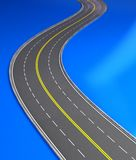 3d road. 3d  image, road on two stripes Stock Image