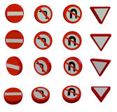 3D road signs Royalty Free Stock Photography