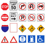 3D Road Signs (Front Viewed) Royalty Free Stock Photo