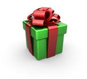 3d robić pudełkowaty prezent Obrazy Royalty Free