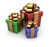 3d robić pudełkowaty prezent Obrazy Stock