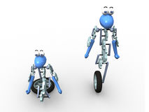 3d robot. In two positions royalty free illustration