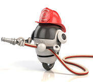 3d robot firefighter. On white Royalty Free Stock Photos