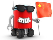 3d robot over white Stock Images