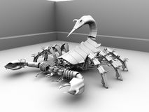 3D robot Scorpion Royalty Free Stock Photography