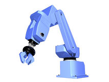 3D Robotic Arm isolated. On white background Royalty Free Stock Image