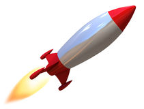 3d rocket isolated Royalty Free Stock Images