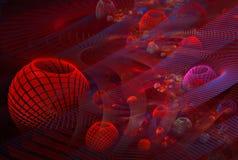 3D Rode Cellen royalty-vrije illustratie