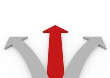 3d rode grijze hoge pijlen Royalty-vrije Stock Foto's