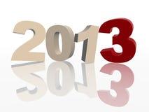 3d rok 2013 w czerwieni i grey Obraz Stock
