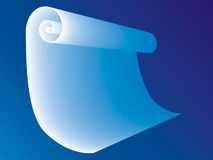 3d roll of paper. On blue background Royalty Free Stock Images