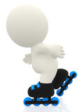 3D roller skater Royalty Free Stock Photography