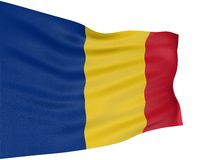 3D Romanian flag Stock Photography