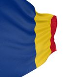 3D Romanian flag Royalty Free Stock Photos