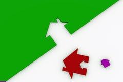 3d Rood en Wit huisteken dat op wit wordt geïsoleerda vector illustratie