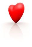 3D rood hart Stock Afbeelding