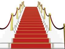 3D rood tapijt Royalty-vrije Stock Afbeeldingen