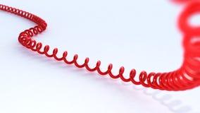 3D rood telefoonkoord Stock Afbeelding