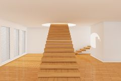 3d room with stairs Royalty Free Stock Images