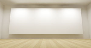 3d Room With White Backdrop Royalty Free Stock Photos