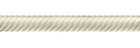 3D ropes. On white background, isolated Royalty Free Stock Photo