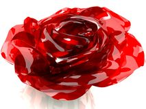 3D rose made of glass.  Stock Photography