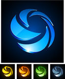 3d rotate emblems. Royalty Free Stock Image