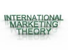 3d rotula a teoria do mercado internacional da soletração Imagem de Stock Royalty Free