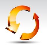 3d round arrow. Stock Image