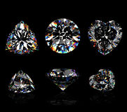 3d Round brilliant cut diamond Royalty Free Stock Photography
