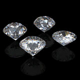 3d Round brilliant cut diamond perspective Royalty Free Stock Photography