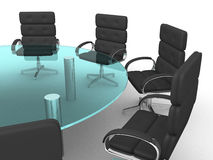 3d round conference room Stock Photo