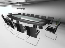 3d round conference room. On white Stock Photography